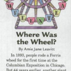 Where was the wheel?