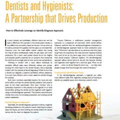 Dentists and Hygienists: A Partnership that Drives Production